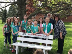 Junior Scouts Present Buddy Bench