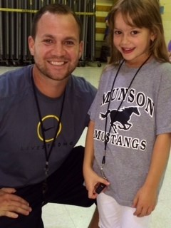 Margo Brugger-Gym Teacher for the Day-& Mr. Hazen