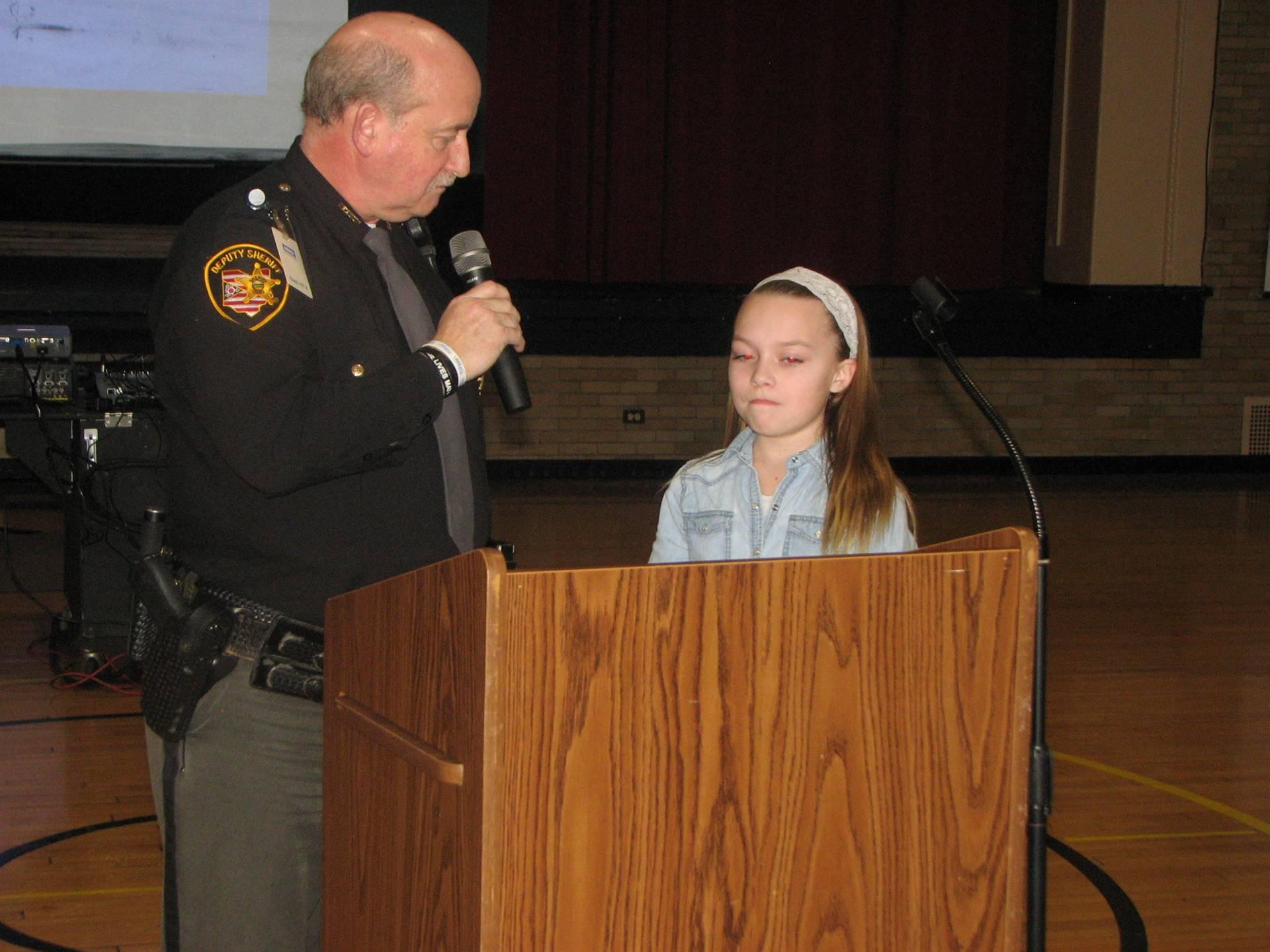 Gia Biondo and Deputy Lundstrom