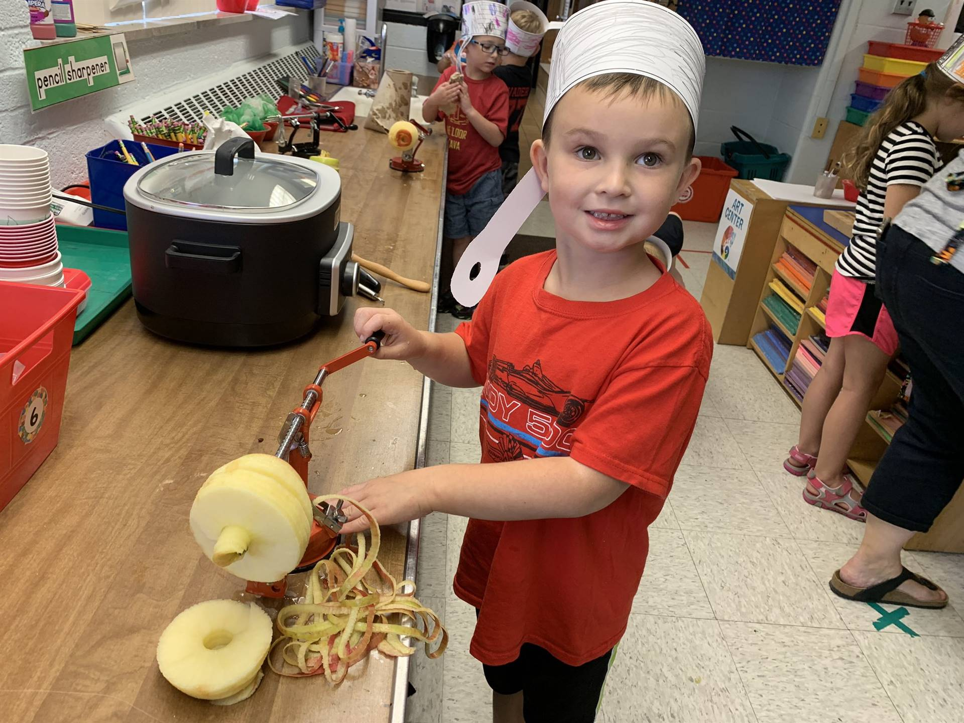 Making Applesauce in Ms. Cudo's Class