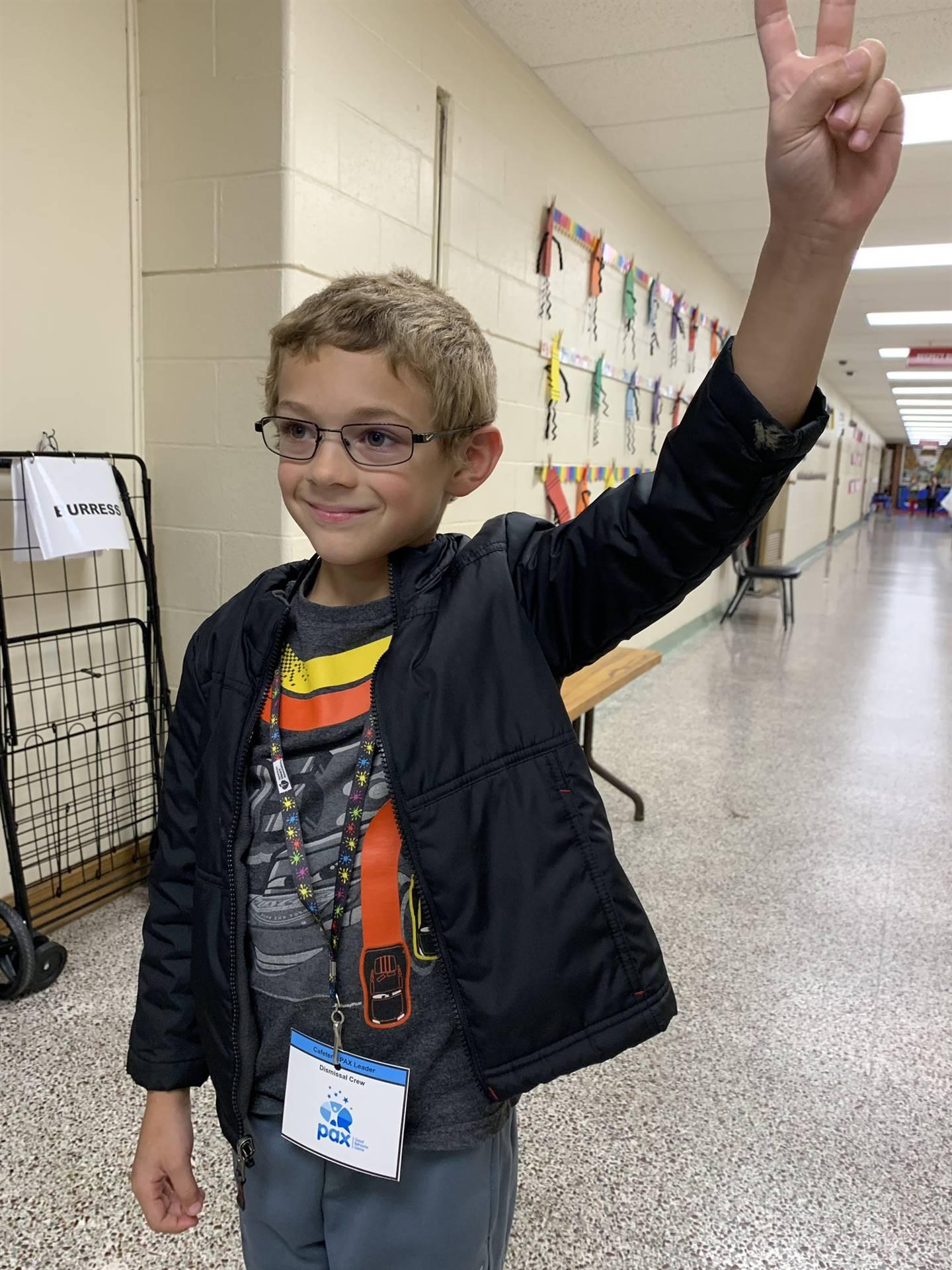 Munson Elementary PAX Leader (student) - Fall 2019
