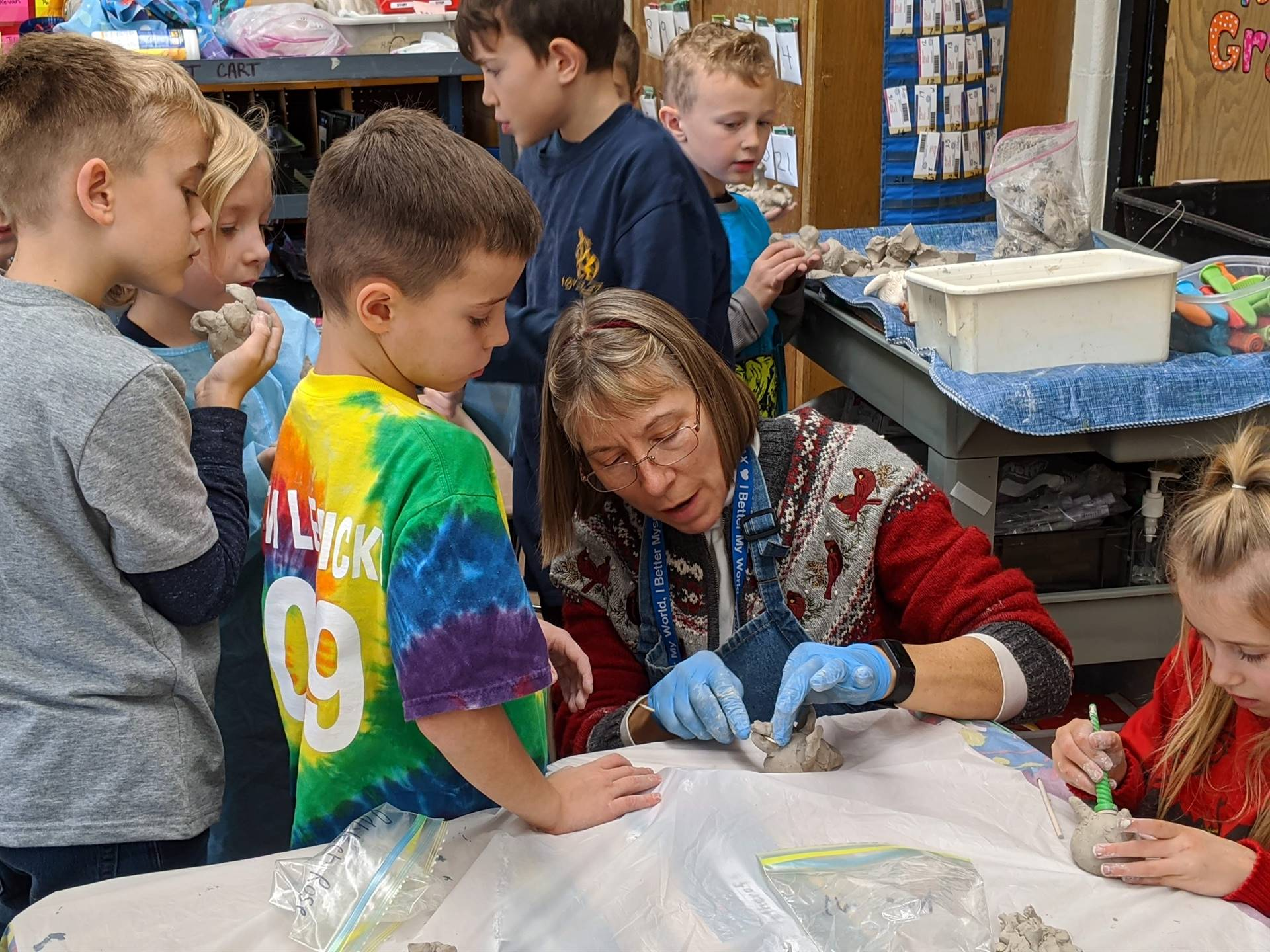 Clay Pinch Pot Project:  1st-grade Art Class with Mrs. Stickley