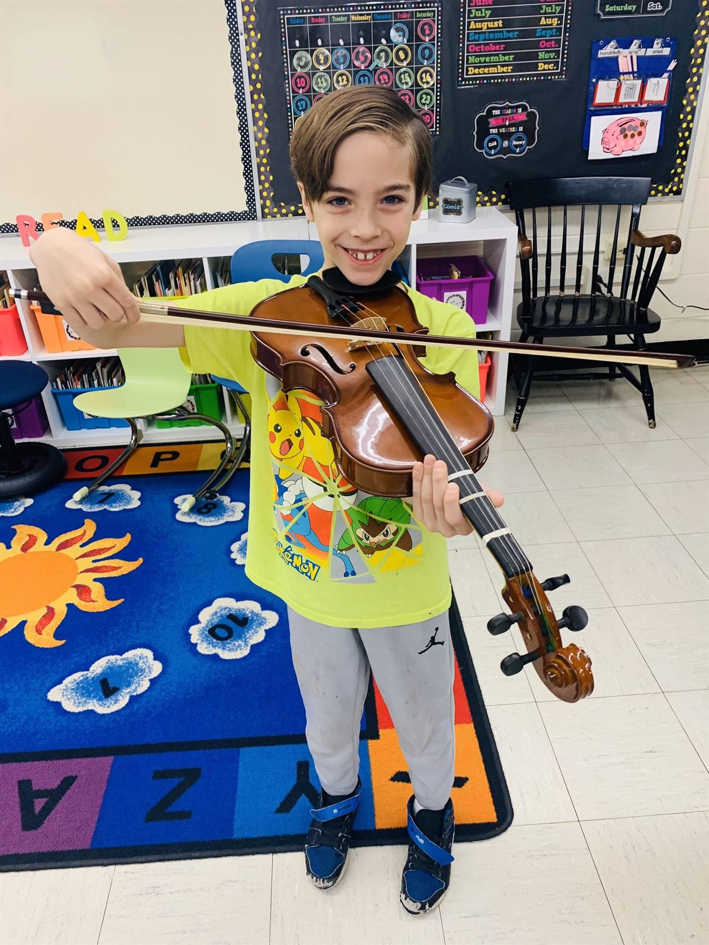 Kayden Hosler, 2nd-grade student in Mrs. Turk's Class
