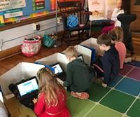 Park Elementary Students on Chromebooks